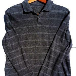 Van Heusen Shirts - Van Heusen Long Sleeve Polo Gray Plaid Sz XL